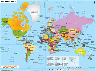 Different Types of Maps - Geographical Survey of Western World